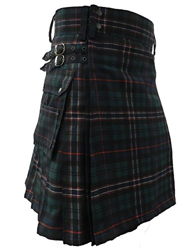 UTKilts Men's Tartan Utility Kilt - Several Tartans Available (32, Scottish National)