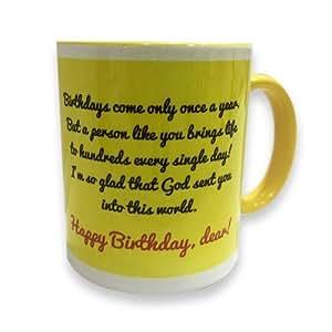 Ceramic Coffee Mug with Birthday Wishes to Someone Dear