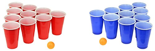 Fairly Odd Novelties FON-10253 Beer Pong Drinking Game Set - 22 Cups 4 Ping Pong Balls]()