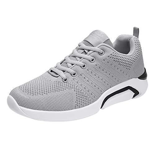 WENSY Mens Running Shoes Trail Fashion Sneakers Tennis Sports Casual Walking Athletic Fitness Indoor and Outdoor Shoes(Gray,42) ()