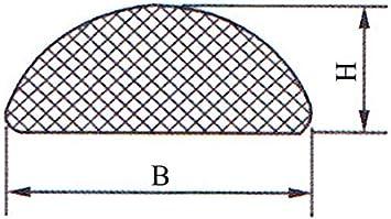 Gummidichtung selbstklebend Schwarz in 6 Gr/össen /& 2 Formen Rechteckig oder Rund zum ausw/ählen 10x5mm, Rechteckig
