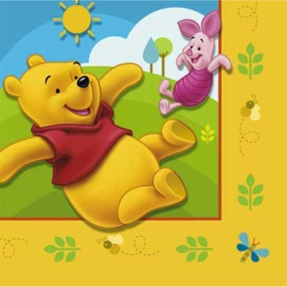Winnie the Pooh Beverage Napkins 16ct, Health Care Stuffs