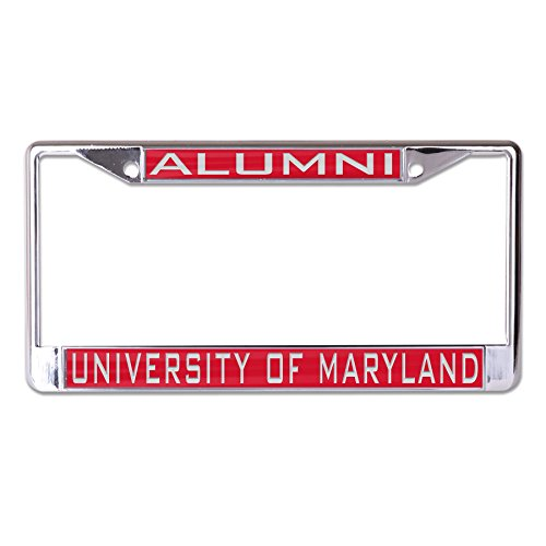 WinCraft NCAA Maryland Terrapins Alumni Inlaid Metal License Plate Frame, 2-Tag Corners ()