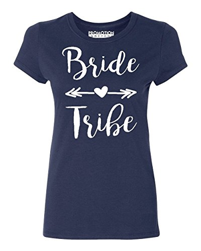 Wedding Bridal Party Gear Bride Tribe Women's T-Shirt, M, Navy