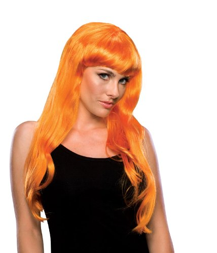 Rubie's Costume Long Glamour Wig, Orange, One Size ()
