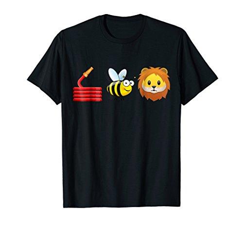 T-shirt Womens Bee (Funny animal joke shirt Pun Tee- Hoes bee Lion Shirt)