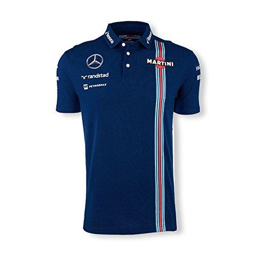 Williams Martini Racing 2016 Team Polo (Blue, XX-Large) - Williams F1 Team