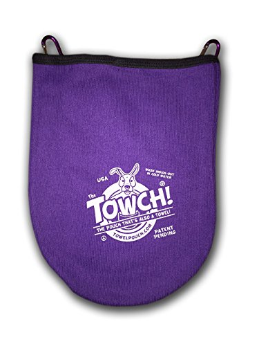 Towch Disc Golf Towel Pouch - 3 to 5 Disc Bag - Choice of 11 Colors - (Passionate Purple)
