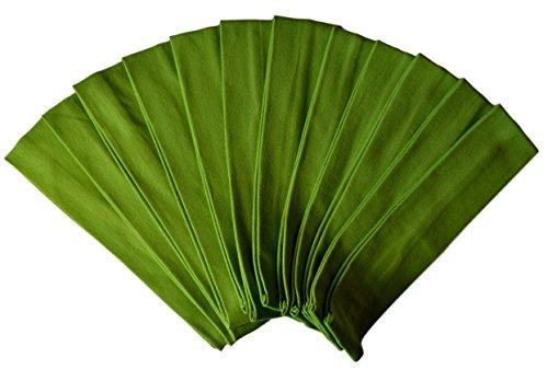 1 DOZEN 2 Inch Wide Cotton Stretch Headbands OFFICIAL FUNNY GIRL DESIGNS HEADBANDS (Official Funny Girl Lime Green)