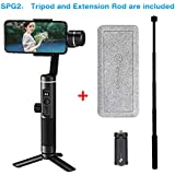 Feiyu SPG2 (with Extension Rod and Tripod) 3-Axis Handheld Gimbal Stabilizer for Smartphone Like iPhone X/8/7 Plus 6 Plus Samsung Galaxy S8+ S8 S7 S6 S5