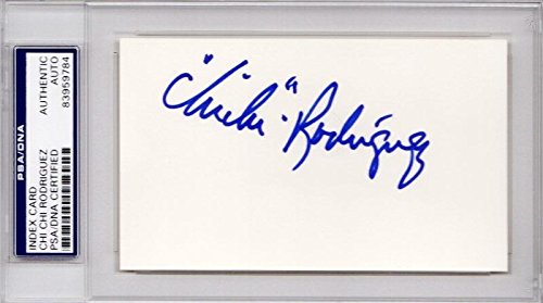 Chi Chi Rodriguez Signed - Autographed 3x5 inch Index Card - Certificate of Authenticity (COA) - Slabbed Holder - PSA/DNA Certified