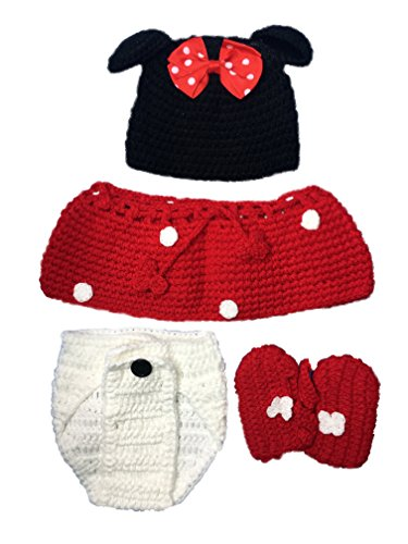 Starlite Props Newborn Costumes and Photography Props (Minnie Mouse) (Minnie Mouse Infant Outfits)