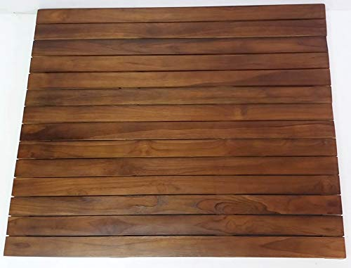 Medium Teak Floor Mat 24'' L x 16'' W x 1.5'' H