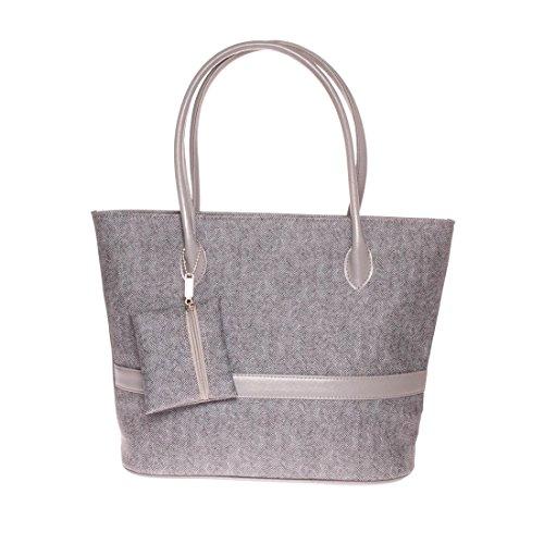 Beautiful Hobo Women's Handle Handbags Satchel Twinya Tote Gray Top Small PU with Leather Pruse 8qdYwxRxgI