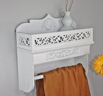 Handtuchhalter Landhausstil wandschrank schrank haken holz weiß landhaus cottage gewürzregal