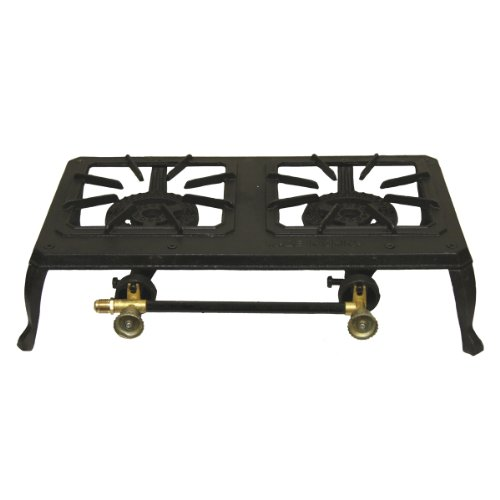 Grip-On Tools Double-Burner Cast Iron Camping Stove, Outdoor Stuffs