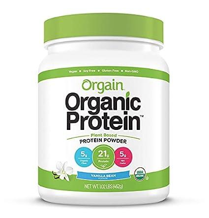 Amazon.com : Orgain Organic Plant Based Protein Powder, Vanilla ...