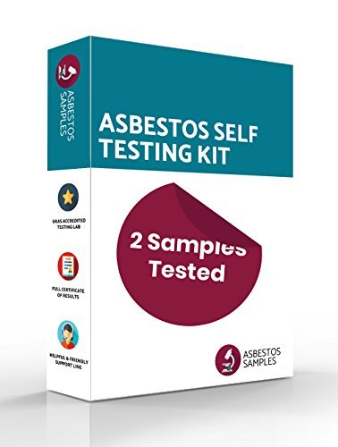 2 Samples Tested UKAS Accredited Lab Certificate Asbestos Self Testing Kit Industry Approved Protective Equipment Fast Results