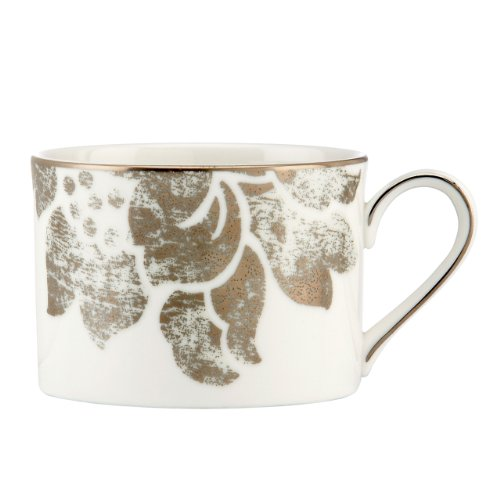 Lenox 822841 Silver Applique Can Cup, White
