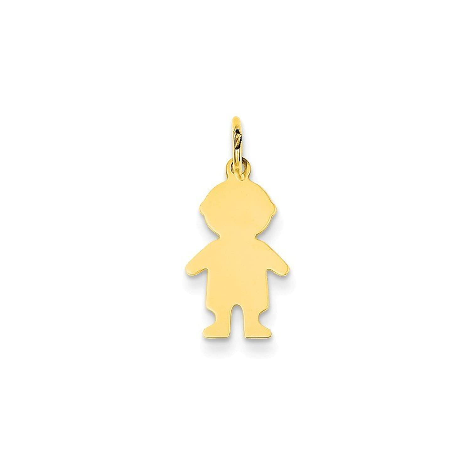 14k Gold Boy Charm Pendant (0.87 in x 0.35 in)