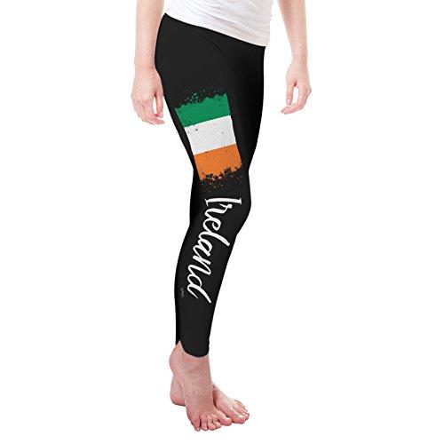 Start Watercolour (Twisted Envy Women's Ireland Paint Splatter Flag Leggings Small Black)