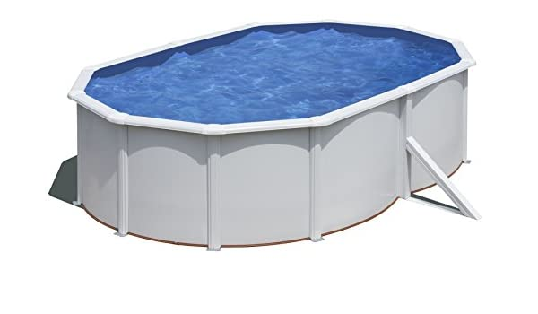 Gre KITPROV5183 Framed Pool Ovalado 19000L Azul, Color Blanco ...