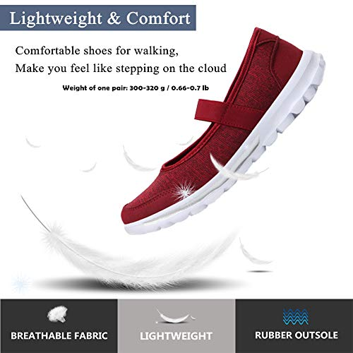 Yooeen Mode Baskets Femme Confort Athlétique Ballerines Chaussures Rouge Janes Sports De Ultra Outdoor Course Plates Mary Gym léger Fitness vrzvwx5q