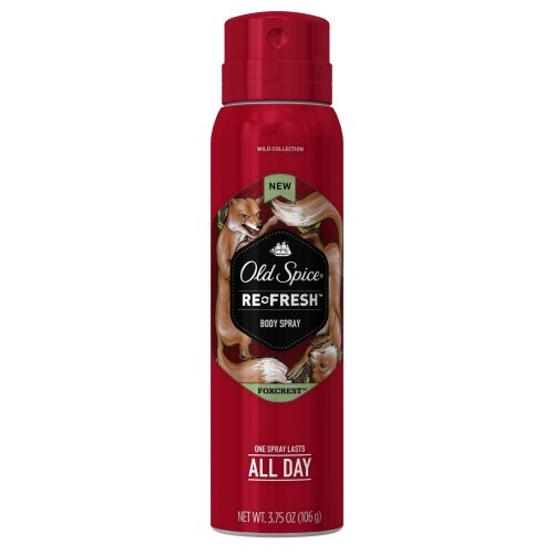 Old Spice Wild Collection Foxcrest Men's Body Spray 3.75 Ounce