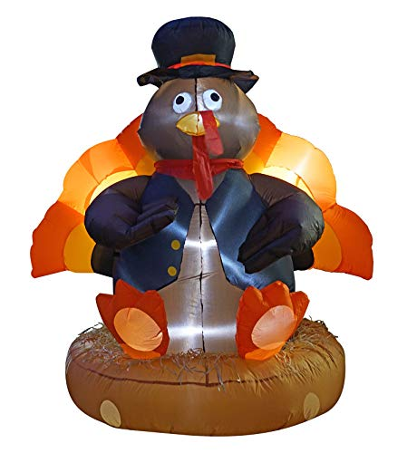 inslife 6 Ft Thanksgiving Day Inflatables Turkey Decorations Airblown Decoration for Outdoors Indoors Home Lawn Garden