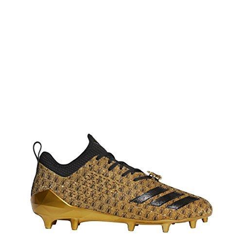 adidas Adizero 5Star 7.0 7v7 Cleat Men's Football 12 Gold Metallic-Core Black-Raw (Football Metallic Heels)