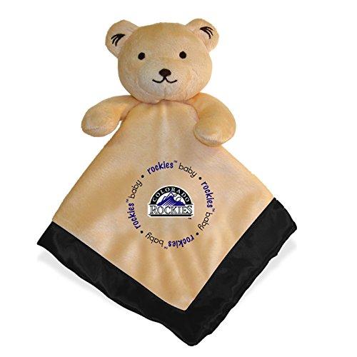 Rockies Colorado Plush (Colorado Rockies Black Trim Baby Security Snuggle Bear Blanket - 14