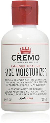 Cremo Face Moisturizer, Astonishingly Superior 24 Hour Face Moisturizer, 4.4 Fluid Ounce (2 Pack)