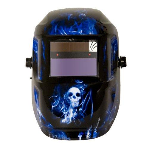 ArcOne 1000F-0141 Professional Grade Carrera Welding Helmet Shell with 1000F Auto-Darkening Filter, Blue Doom