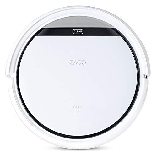 ZACO V3sPro - Robot aspirador con 4 modos de limpieza, fácil manejo y programación con el mando a distancia, especial para pisos duros y la limpieza de pelos de mascotas, color blanco nieve a buen precio