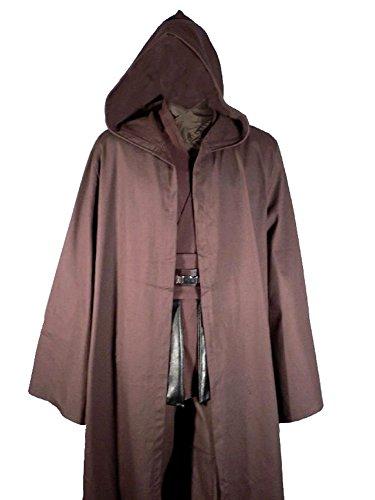 Dark Brown Robe Jedi Cloak Obi Anakin Costume Star Wars Wear (Dark Jedi Costume)