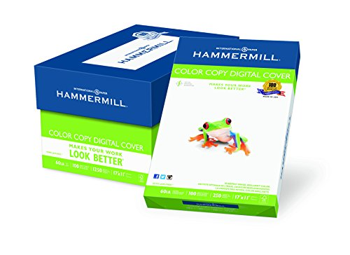 Paper Copy Hammermill Cover Color (Hammermill Paper, Color Copy Digital Cover, 60lb, 17 x 11, 100 Bright, 1250 Sheets / 5 Pack Case, (122556C), Made In The USA)