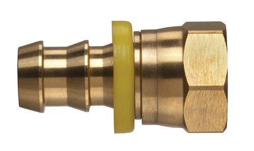 Brass 3//8 x 3//4-16 3//8 x 3//4-16 Tompkins 4301-06-08 Push-On Hose Barb Fitting Barb to SAE 45 Swivel