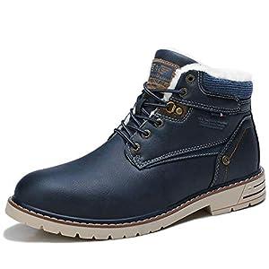 ARRIGO BELLO Homme Bottes Bottines Hiver Chaud Antidérapant Décontractées Boots Chukka Classiques Souples Chaussures De…