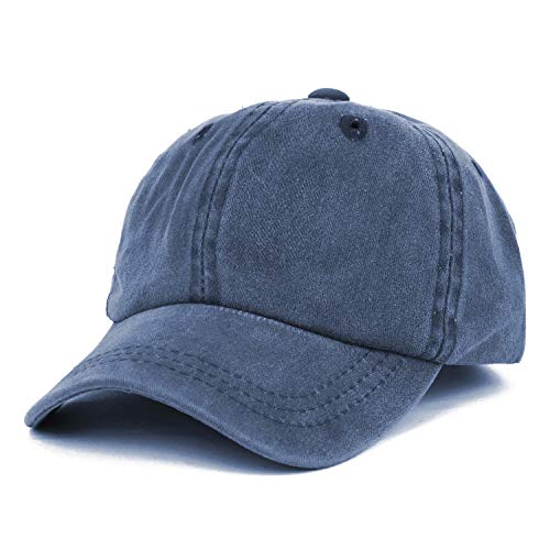 (Trendy Apparel Shop Infant Size Unstructured Pigment Dyed Washed Baseball Cap - Navy)