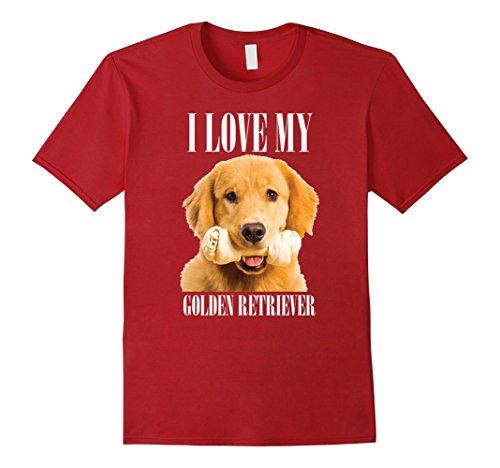 Men's Golden Retriever - I love my Golden Retriever T-shirt 2XL (Retriever T-shirt Tee)