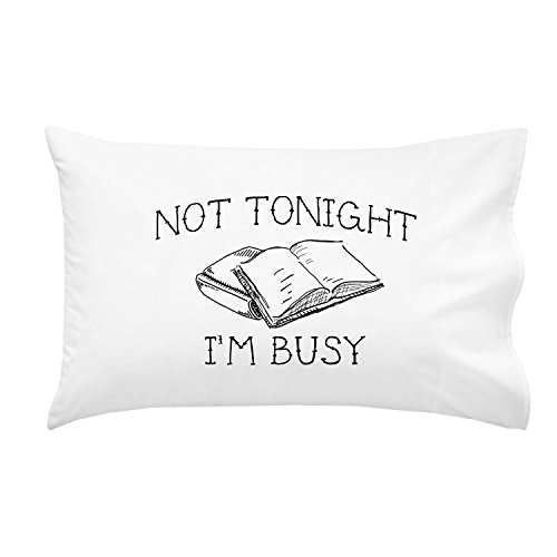 Oh, Susannah Not Tonight Im Busy Pillowcase - Standard Size Pillowcase (1 20x30 inch, Black) College Gifts for Girls Christmas Gift
