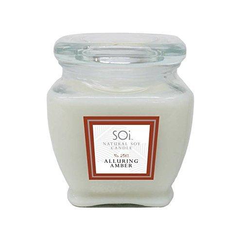 Sandalwood Jar Candle - Soi Candles Amber Sandalwood 16oz Jar Candle by SOI Company