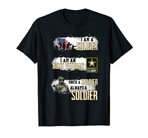 Veteran Gift Shirt Once A Soldier Always A Soldier T-Shirt