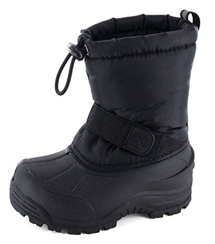 Northside Frosty Winter Boot (Toddler/Little Kid/Big Kid),Black,5 M US Toddler