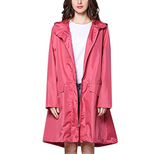 ZSBAYU Waterproof Rain Poncho Lightweight Reusable Hiking Hooded Coat Jacket for Outdoor Activities