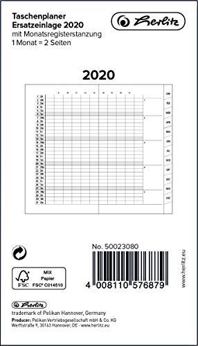 Agenda de bolsillo 2020, encuadernada, con registro mensual ...