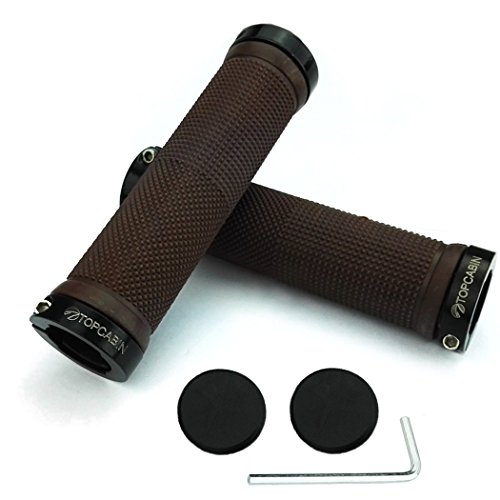 TOPCABIN-Nonslip-MTB-Mountain-Bike-Bicycle-Cycling-Grips-Rubber-Lock-On-Handlebar-Grips-a-Pair
