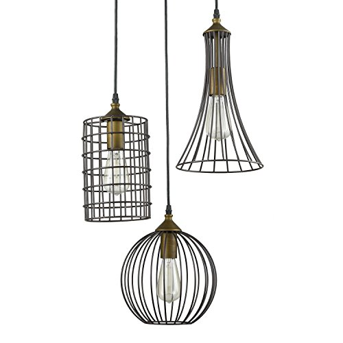 YOBO Lighting Antique 3-lights Island Oil Rubbed Bronze Chandelier Wire Cage Pendant Light  sc 1 st  Industrial Lighting Products For Sale & Lighting Antique 3-lights Island Oil Rubbed Bronze Chandelier Wire ... azcodes.com
