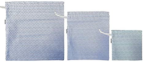 Bolsa Organizadora Ropa Beb/é 3 tama/ños Mimuselina Pack 3 Bolsas Merienda o Muda de tela con Cuerda Wasabi