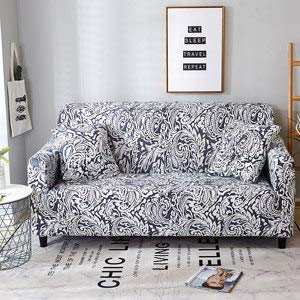 Europe Style Print Slipcover Sectional Sofa Cover All-Inclusive Couch Case Tight Wrap Elastic   20182579, L 195-230CM